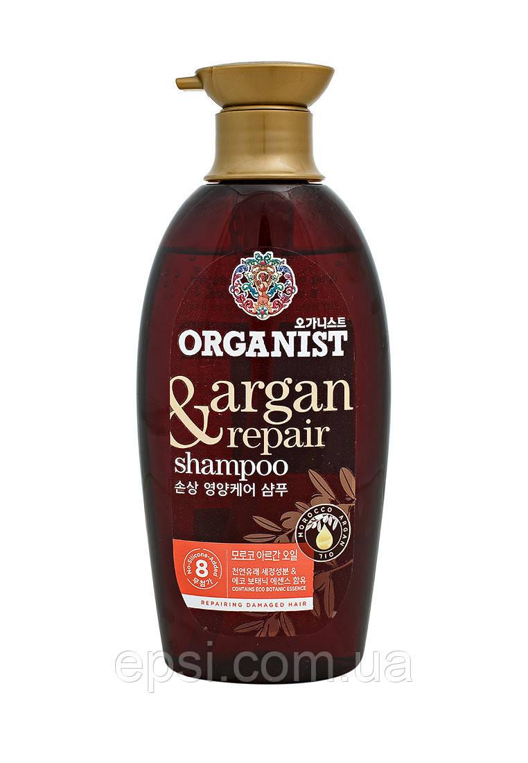 Корейский органический шампунь для сухих и поврежденных волос с аргановым маслом LG Organist Moroco Argain