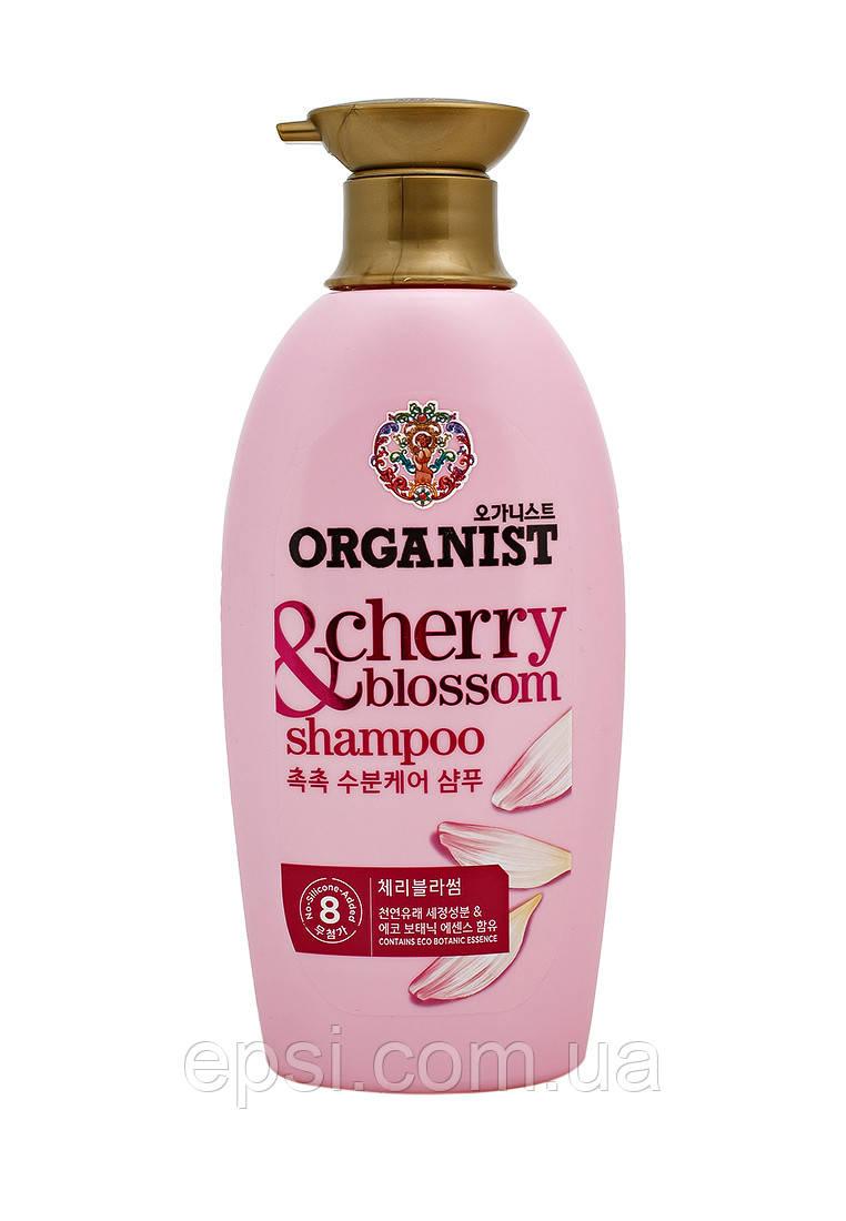 Корейский органический шампунь для сухих и окрашенных волос с экстрактом вишни LG Organist Cherry Blossom, 500