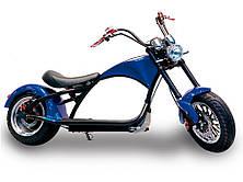 Электроскутер Citycoco Harley Chopper X9 1500W Blue (Синий) Электробайк чоппер Электромотоцикл Сити Коко, фото 2