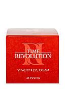 Антивозрастной крем для зоны около глаз Missha Time Revolution Vitality, 25 мл, фото 5
