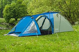 Палатка четырёхместная  Presto Acamper SOLITER 4 PRO зелено - синяя