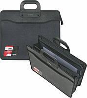 Папка-портфель для документов В4 на молнии 3 отделения черная Axent  №1603-01