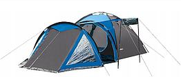 Палатка четырёхместная  Presto Acamper SOLITER 4 PRO серо - синяя