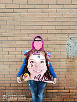 Детское пончо с капюшоном полотенце  FAST DRY, 55*110 СМ. 100% Турция (СКЛАД)