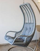 Підвісне садове крісло гойдалка кокон крапля куля плетене з ротанга Українські Конструкції Ліго / Ligo