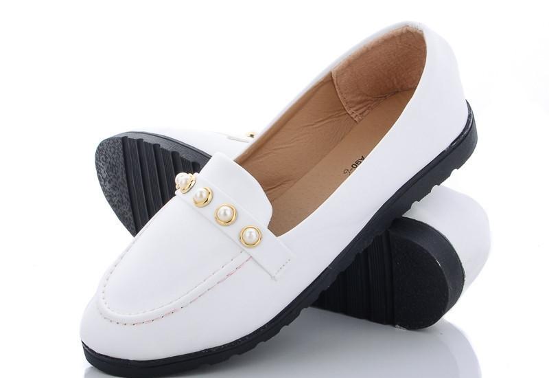 Туфли женские белые AiMeiDui размеры 36,37,38,39,40