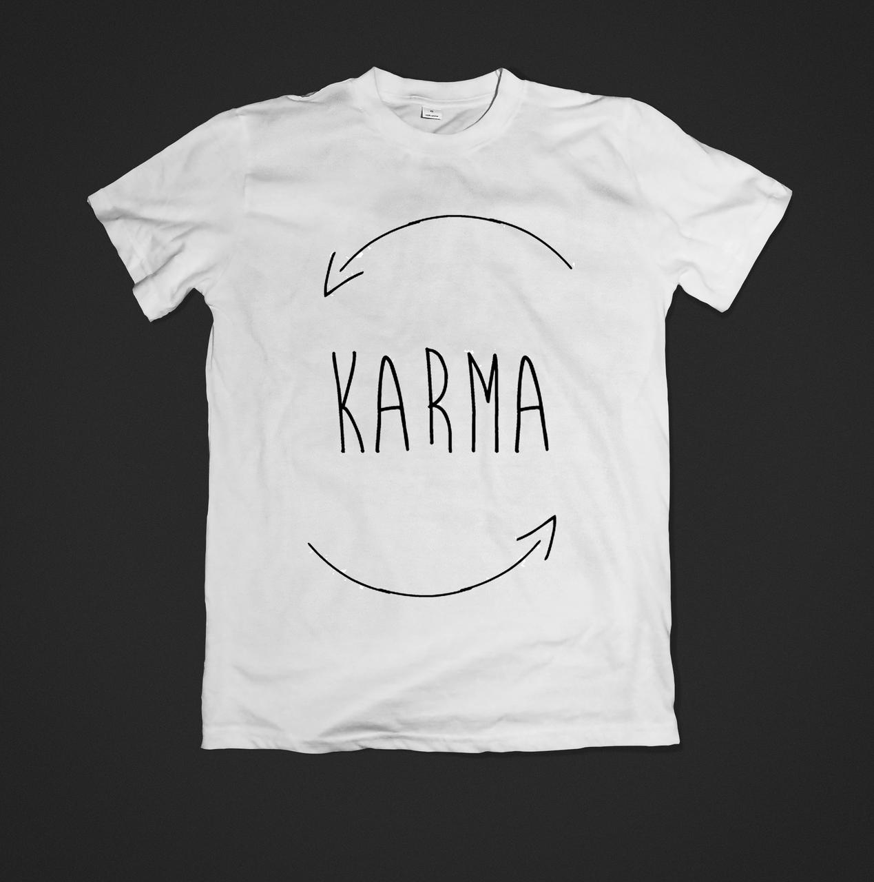 Футболка чоловіча з принтом Karma