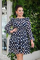 Платье женское нарядное большие размеры /с564 горох, фото 1
