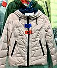 Демисезонная утепленная женская КУРТКА пудрового оттенка. Размеры в наличии S,L, XL, фото 7