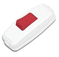 Заготовка для Бизиборда Кнопка 6 см Выключатель для Бра Белый Включатель, Вимикач Кнопка для Бізіборда