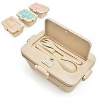 Ланч-бокс (контейнер для еды) детский пластиковый для хранения продуктов Stenson (R87754)
