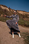 Длинное шифоновое платье с расклешенной юбкой и длинным рукавом vN7789, фото 2