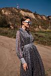 Длинное шифоновое платье с расклешенной юбкой и длинным рукавом vN7789, фото 3
