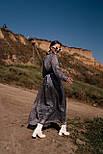 Длинное шифоновое платье с расклешенной юбкой и длинным рукавом vN7789, фото 5