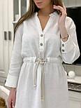 Лляне плаття - сорочка міді з рукавом 3/4 vN7792, фото 6