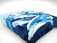 Плед дельфин акриловый полуторный  (Gold Excell)