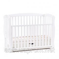 Дитяче ліжечко Соня, колір - білий.