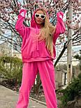 Плюшевый женский спортивный костюм с объемной свободной кофтой худи vN7805, фото 2