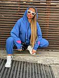 Плюшевый женский спортивный костюм с объемной свободной кофтой худи vN7805, фото 4
