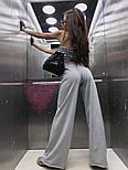 Женский брючный костюм с широкими штанами клеш и топом vN7807, фото 3