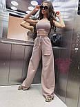 Женский брючный костюм с широкими штанами клеш и топом vN7807, фото 5