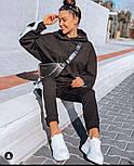 Женский спортивный костюм из трикотажа с лампасами и капюшоном vN7810, фото 5
