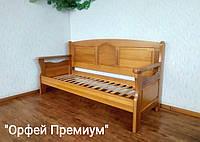 """Прямой кухонный диван из массива дерева """"Орфей Премиум"""" от производителя"""