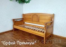 """Прямий кухонний диван зі спальним місцем з масиву дерева """"Орфей Преміум"""" від виробника"""
