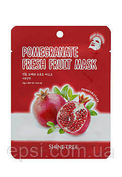 Маска для лица с экстрактом граната Shinetree Pomegranate Fresh Fruit Mask, 23 г