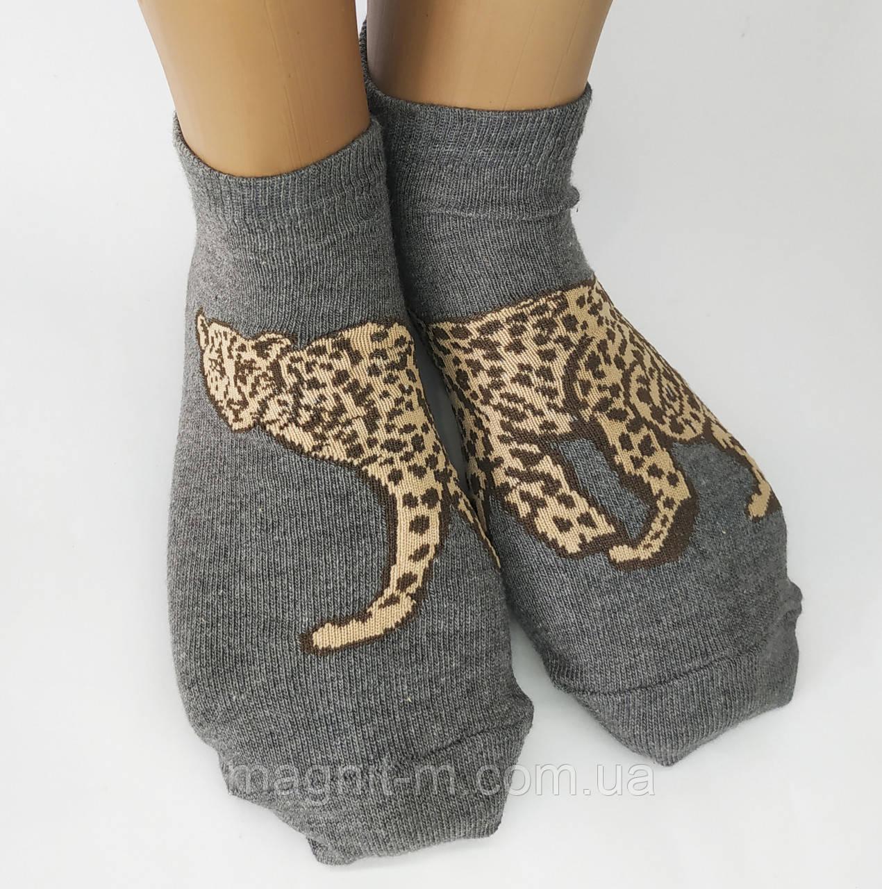 """Женские стрейчевые носки """"Calze Vita"""". Леопард. Турция."""
