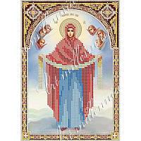 """Набор с бисером икона R-0060 Икона """"Покров Пресвятой Богородицы"""""""