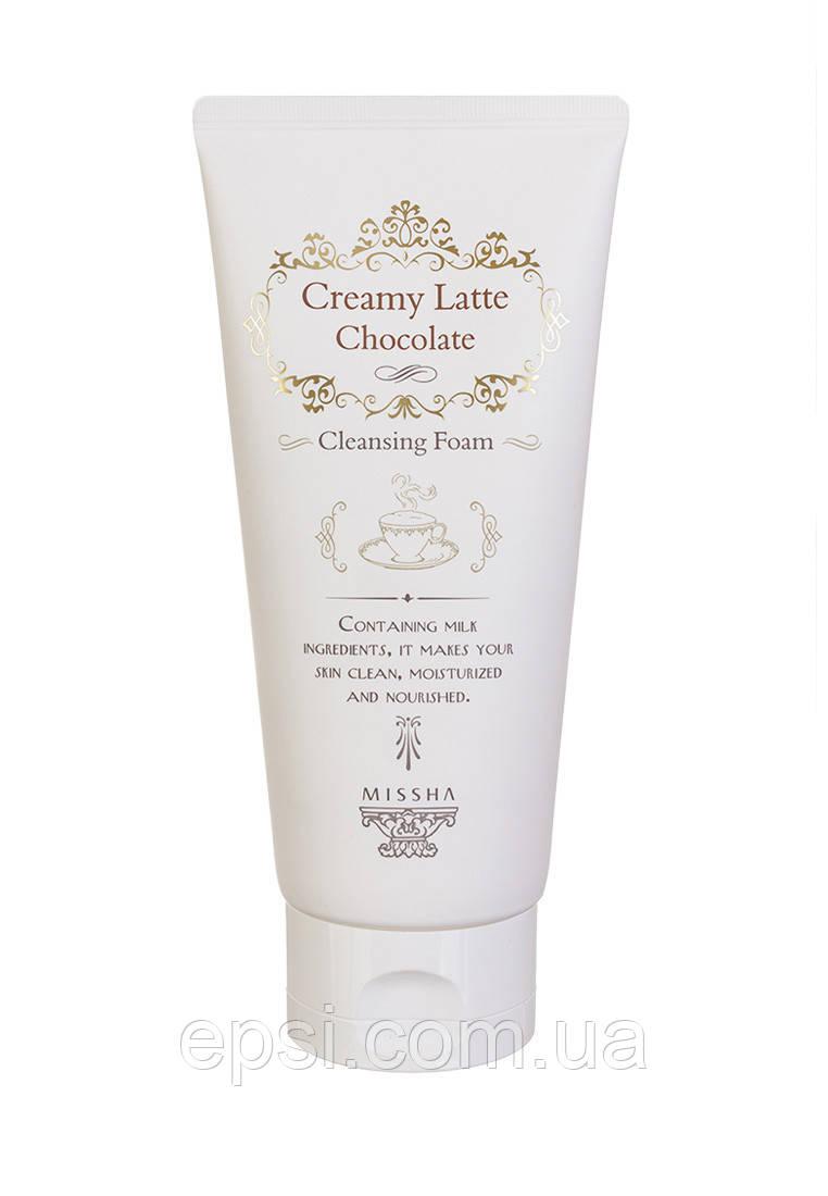 Очищающая пена Шоколад Missha Creamy Latte Cleansing Foam Chocolate, 172 мл