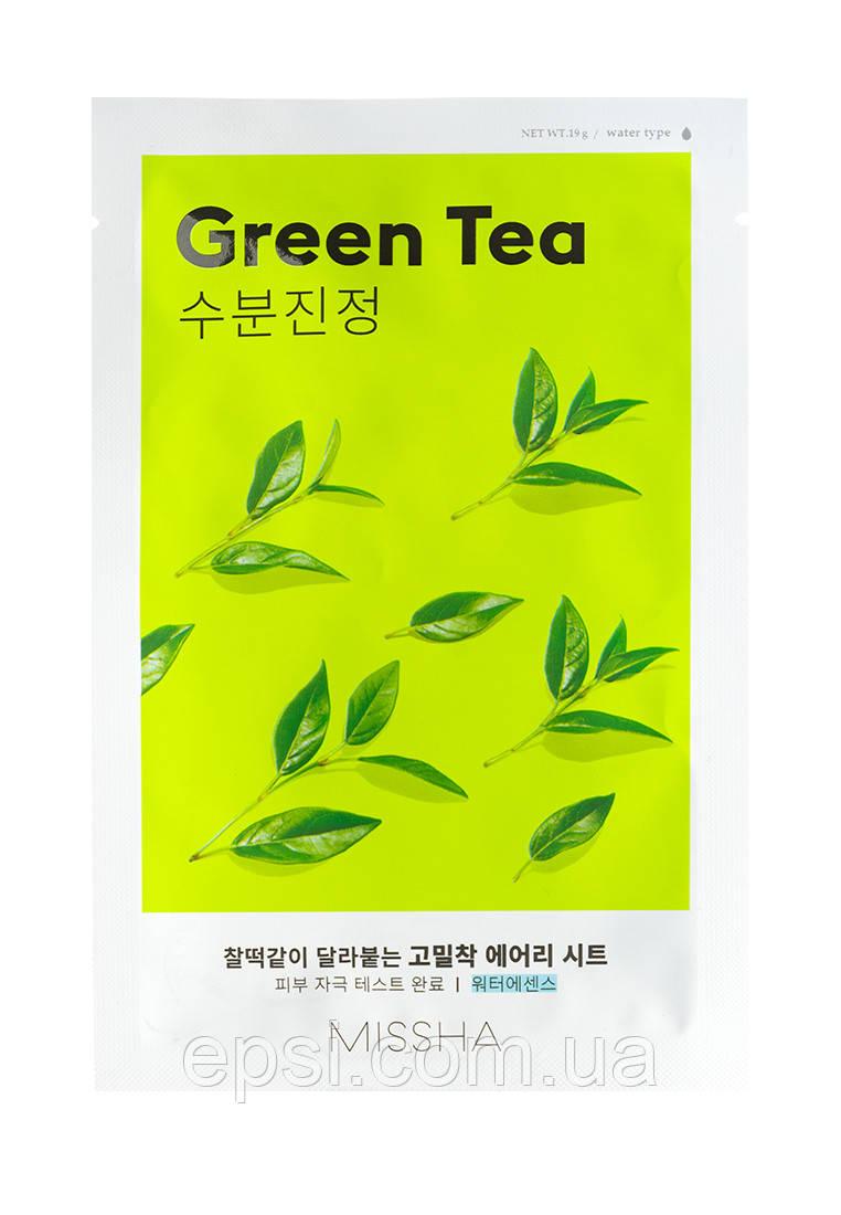 Маска для лица с экстрактом зеленого чая Missha Airy Fit Green Tea, 19 г