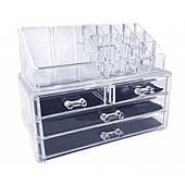 Органайзер для хранения косметических средств Cosmetic box UTM с 4 ящичками Прозрачный