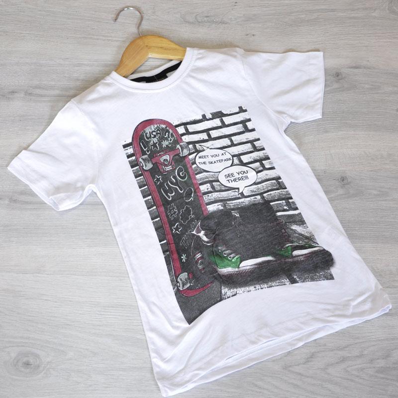 "Летняя футболка ""See you there!"", трикотаж, для мальчика(104-110-116-128 см), 4 ед.в уп."