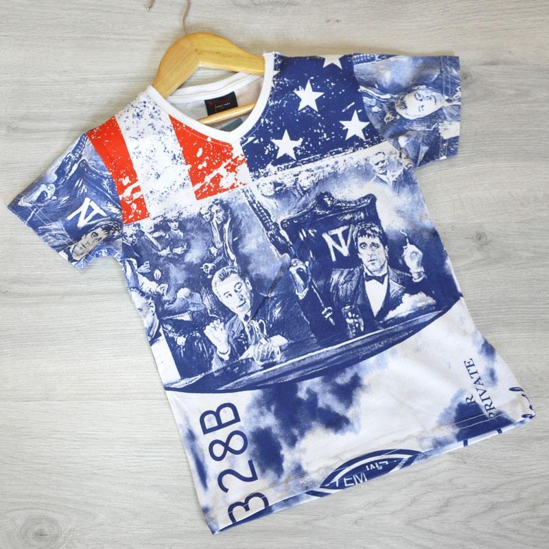 """Летняя футболка """"Gangster"""" , трикотаж , для мальчика (рост 104-110-116-128 см)"""