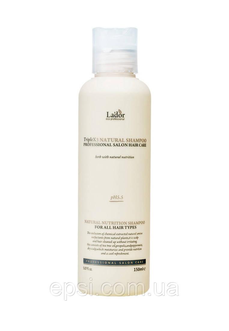 Безсульфатний шампунь La dor Triplex Natural Shampoo, 150 мл
