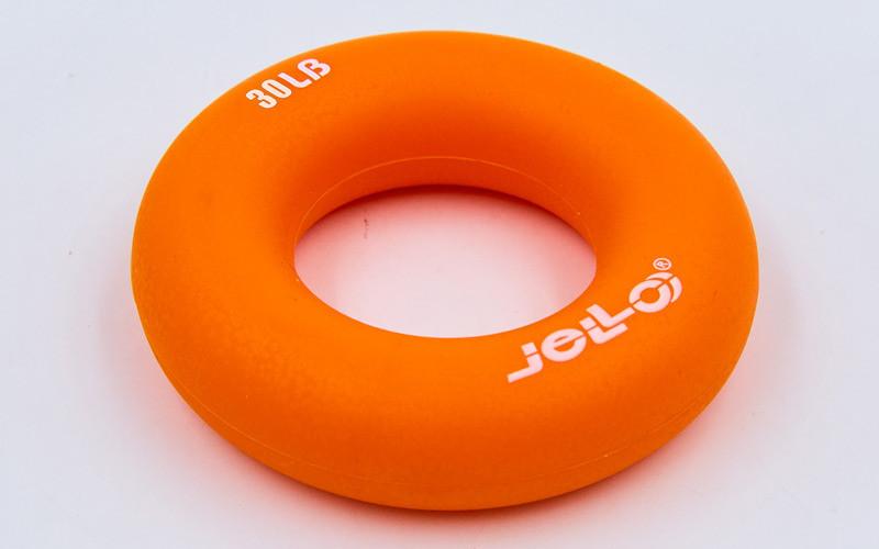 Эспандер кистевой Кольцо (1шт) JLA473-30LB (TPR, d-7см, нагрузка 30LB(13,5кг), оранжевый, фиолетовый