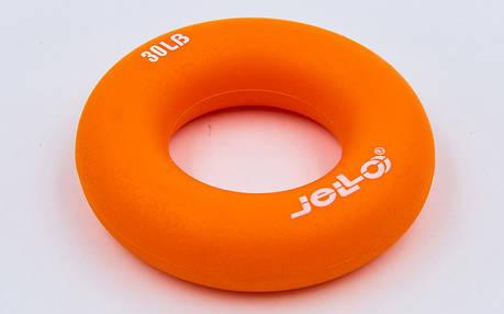 Эспандер кистевой Кольцо (1шт) JLA473-30LB (TPR, d-7см, нагрузка 30LB(13,5кг), оранжевый, фиолетовый, фото 2