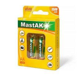 "Аккумулятор ""пальчиковый"" MastAK AA 1,2v 1500mAh ( 2шт.)"