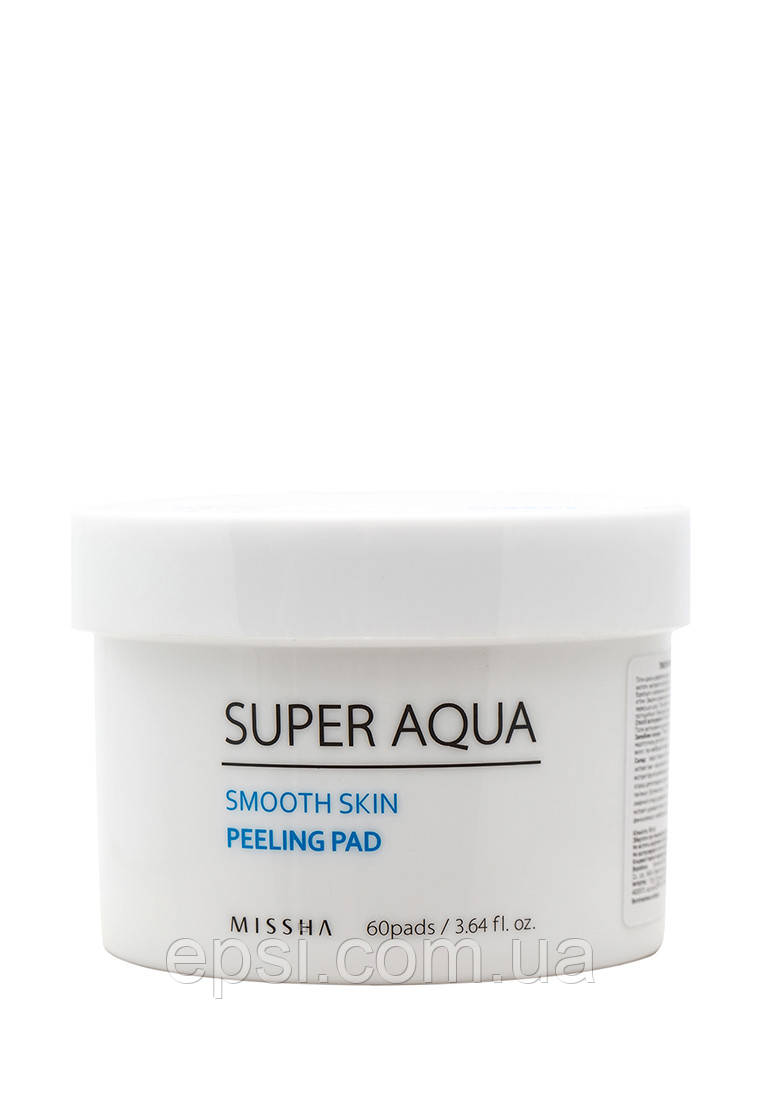 Пилинг-диски для лица Missha Super Aqua Smooth Skin Peeling Pad, 60 шт
