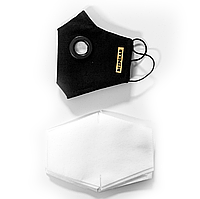Защитная маска BEZPEKAR и 20 фильтров One Size Черный 888, КОД: 1676087