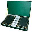 """Подарочный набор аксессуаров """"Бизнес"""": ежедневник А5 кожаный, визитница настольная кожаная и ручка в футляре, фото 2"""