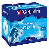 Диск CD-R Verbatim 700Mb 16x Jewel Case 10 Pack Music (43365)
