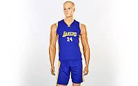 Форма баскетбольна підліткова NBA LAKERS 24 (PL, р-р M-XL, фіолетовий)