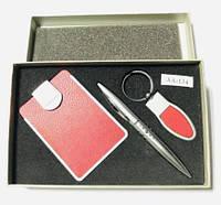 Фирменный подарочный набор, для автомобилиста, визитница и нож стильный подарок для мужчин и женщин (AA-134)