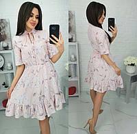 Платье с воланом/ цветочным принтом женское (ПОШТУЧНО)