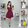 Р 42-52 Лляне літня сукня з спідницею кльош 21434