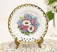 Настенная фарфоровая тарелка с цветами, фарфор, Minerva Collection, 1992 год, Англия, фото 1