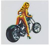 СУПЕР ХИТ! Наклейки на авто, стекло, универсальные тюнинг  / Moto girl, девушка и мотоцикл